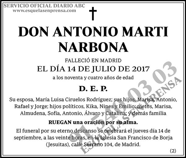 Antonio Marti Narbona